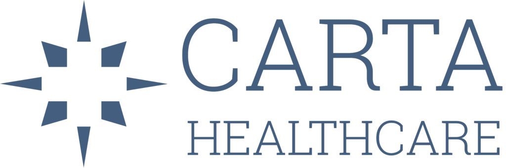 logo - icon + carta healthacre on top