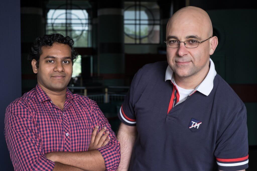 Rice graduate student Hamim Zafar, left, and computer scientist Luay Nakhleh.