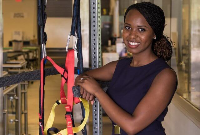 Rice University undergraduate Jennifer Muturi led the development of a physical therapy apparatus that will better serve pediatric patients at a rehabilitation center in Buduburam, Ghana.