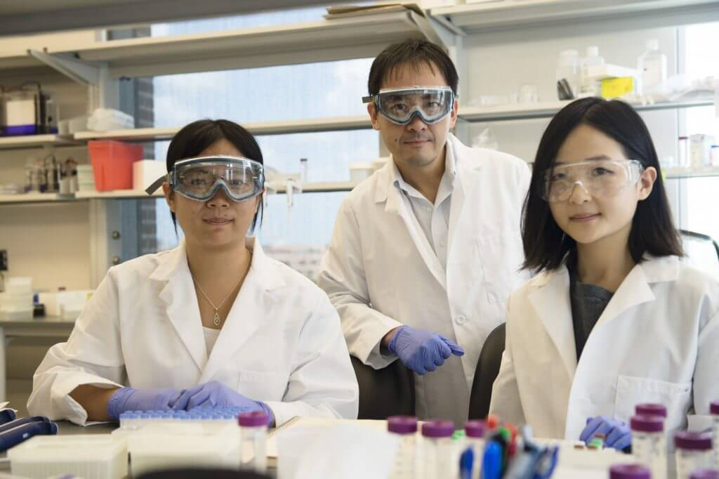 Rice University researchers (from left) Lucia Wu, David Zhang and J. Sherry Wang have developed a continuously tunable method to quantify biomarkers in DNA and RNA. Finding biomarkers is important for the detection of diseases and the design of therapies. (Credit: Jeff Fitlow/Rice University)
