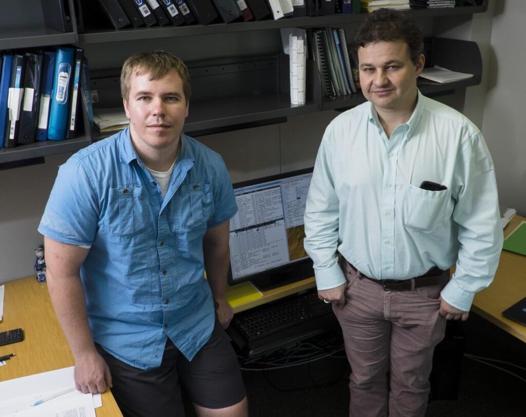 Rice University postdoctoral researcher Alexey Shvets, left, and Professor Anatoly Kolomeisky.