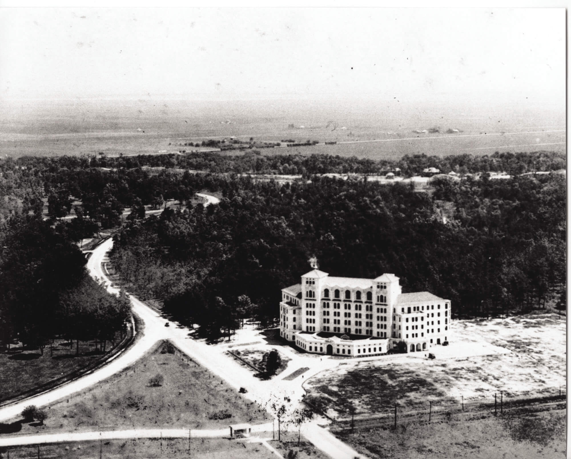 Hermann Hospital opened to the public and admitted its first patient in 1925. They would later become a member institution of the Texas Medical Center. (Credit: John P. McGovern Historical Collections and Research Center at the Texas Medical Center Library)