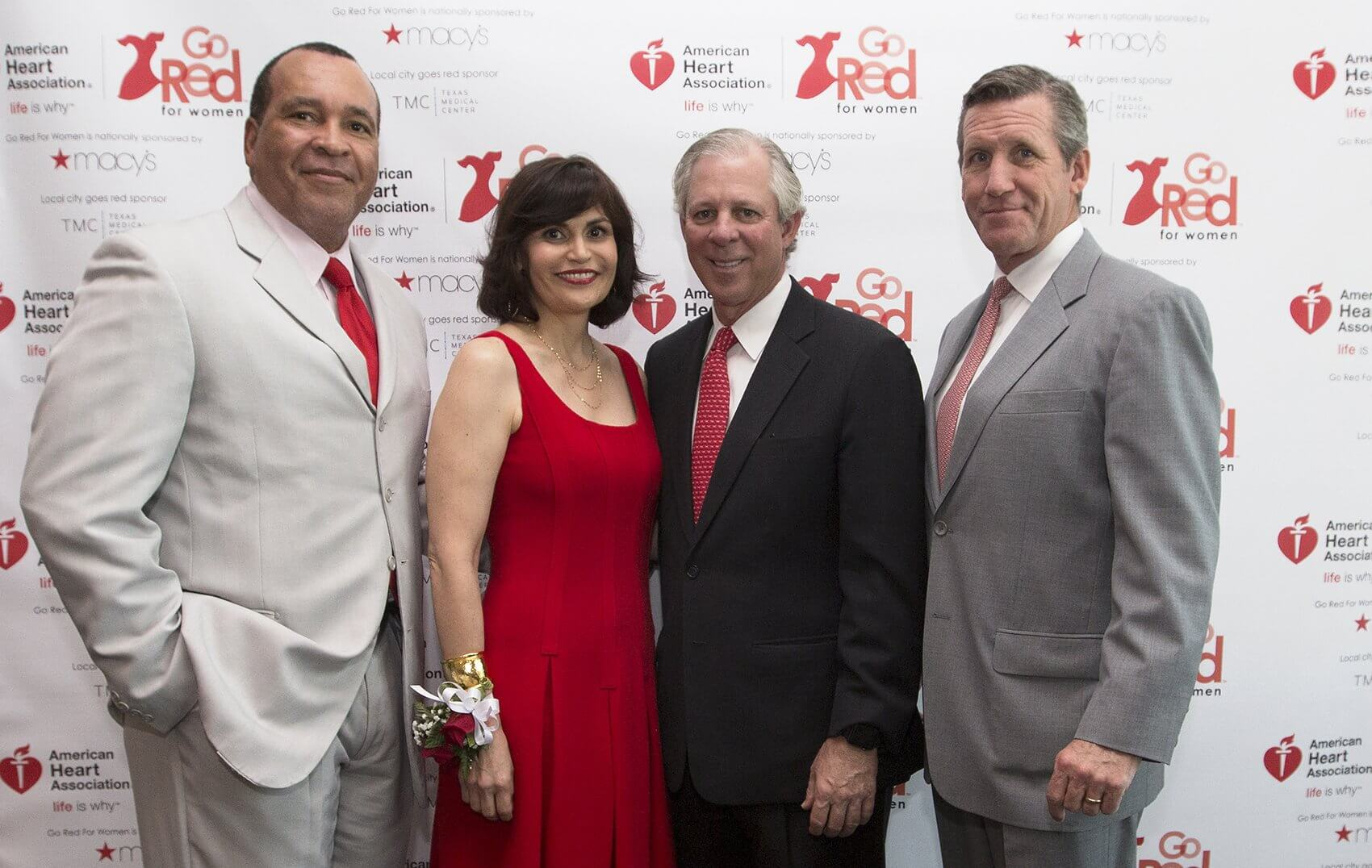 The Texas Medical Center team, from left: Larry Stokes, senior vice president of shared services; Denise Castillo-Rhodes, executive vice president and chief financial officer; Robert C. Robbins, M.D., president and CEO; and William F. McKeon, executive vice president and chief strategy and operating officer.