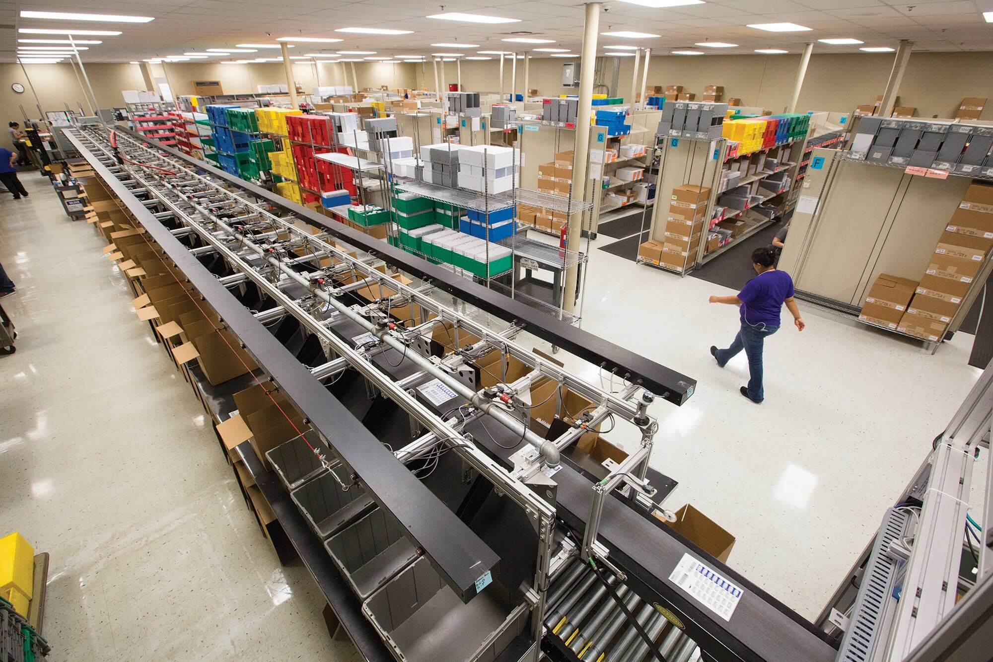 The Texas Correctional Managed Care program operates its own pharmacy, using a custom-made conveyor belt and automated machines to fill approximately 20,000 prescriptions a day.