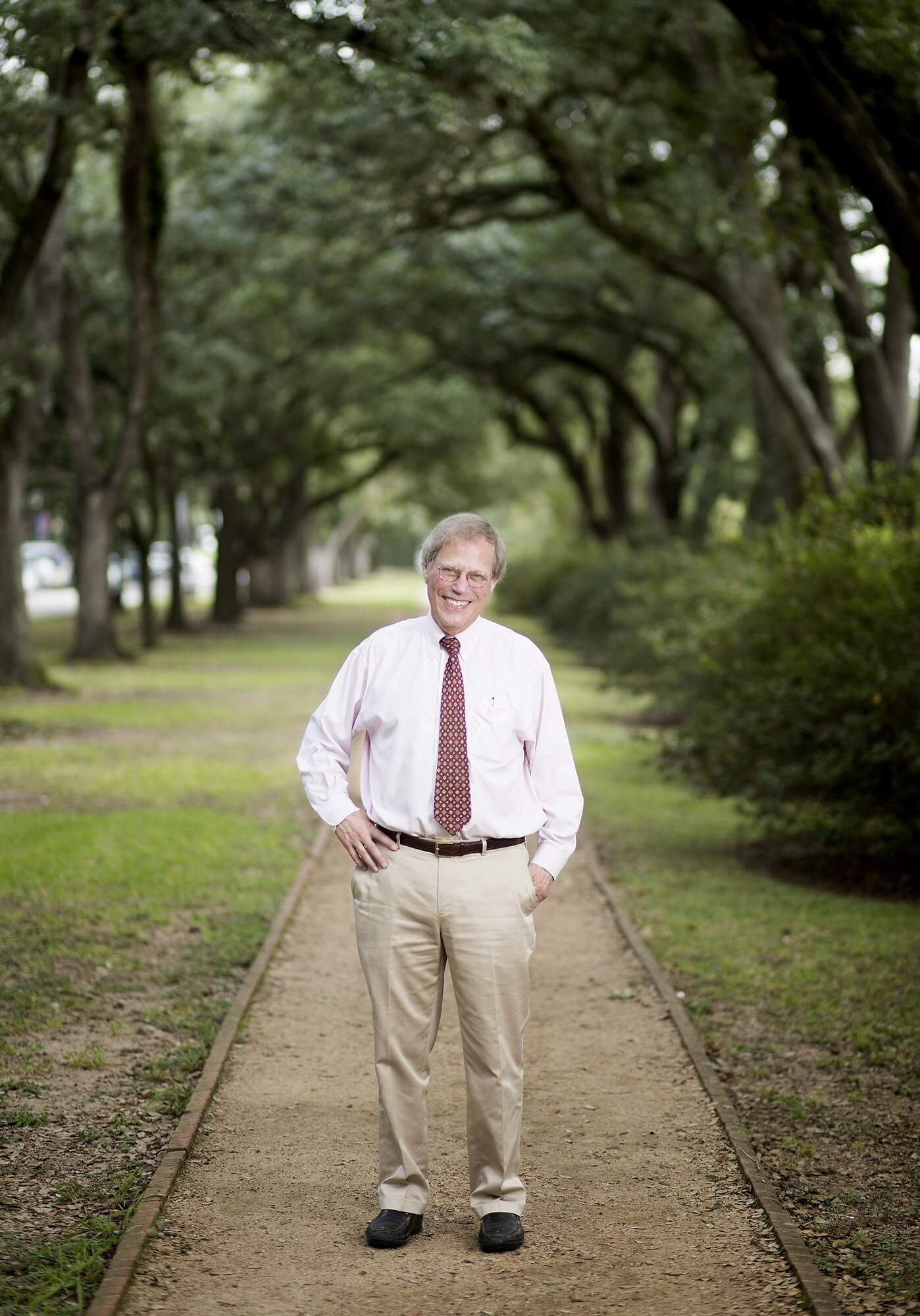 Stephen Klineberg, Ph.D., photographed on the Rice University campus.