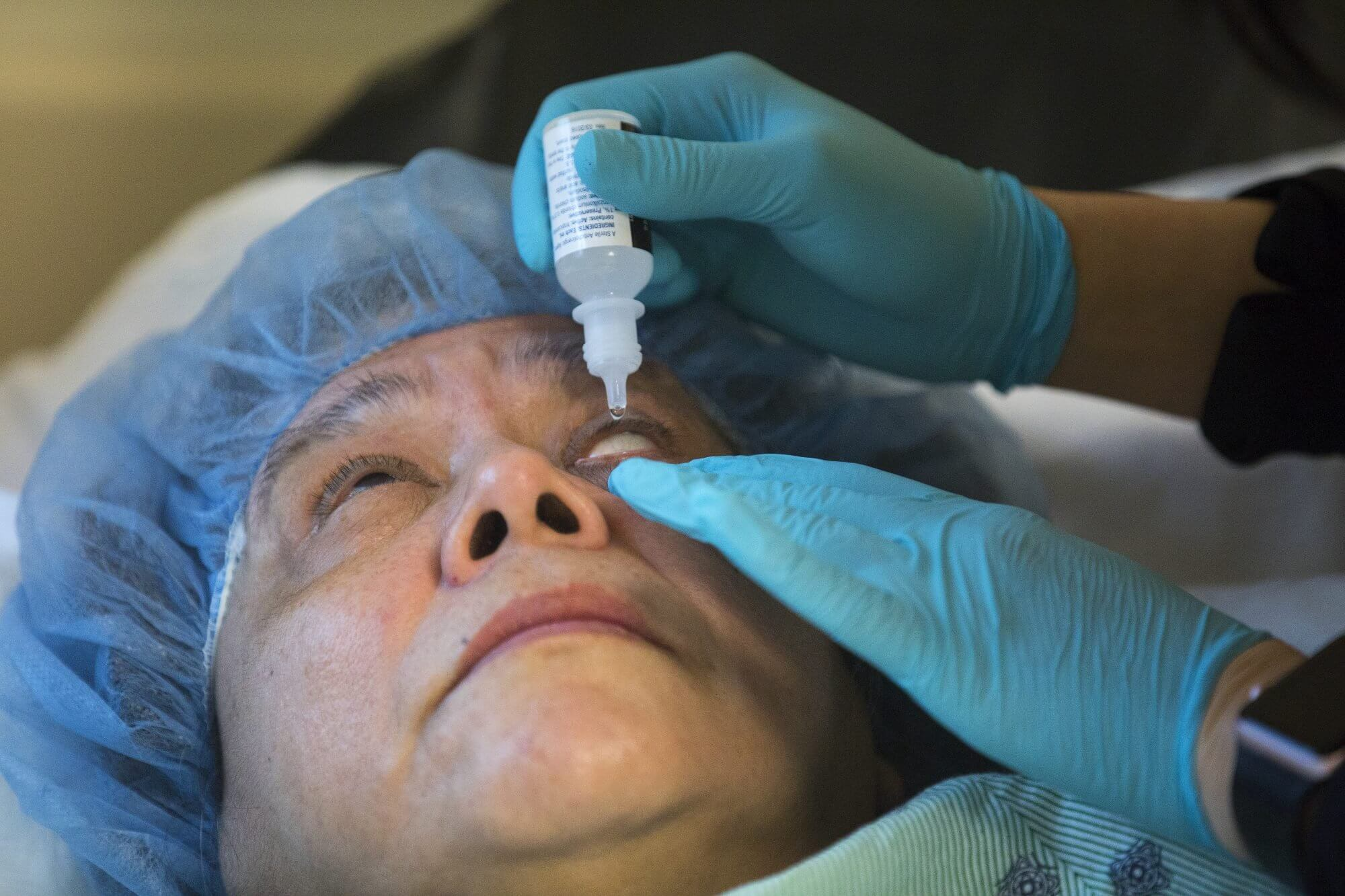 Lidia Lopez before eye surgery at Memorial Hermann.