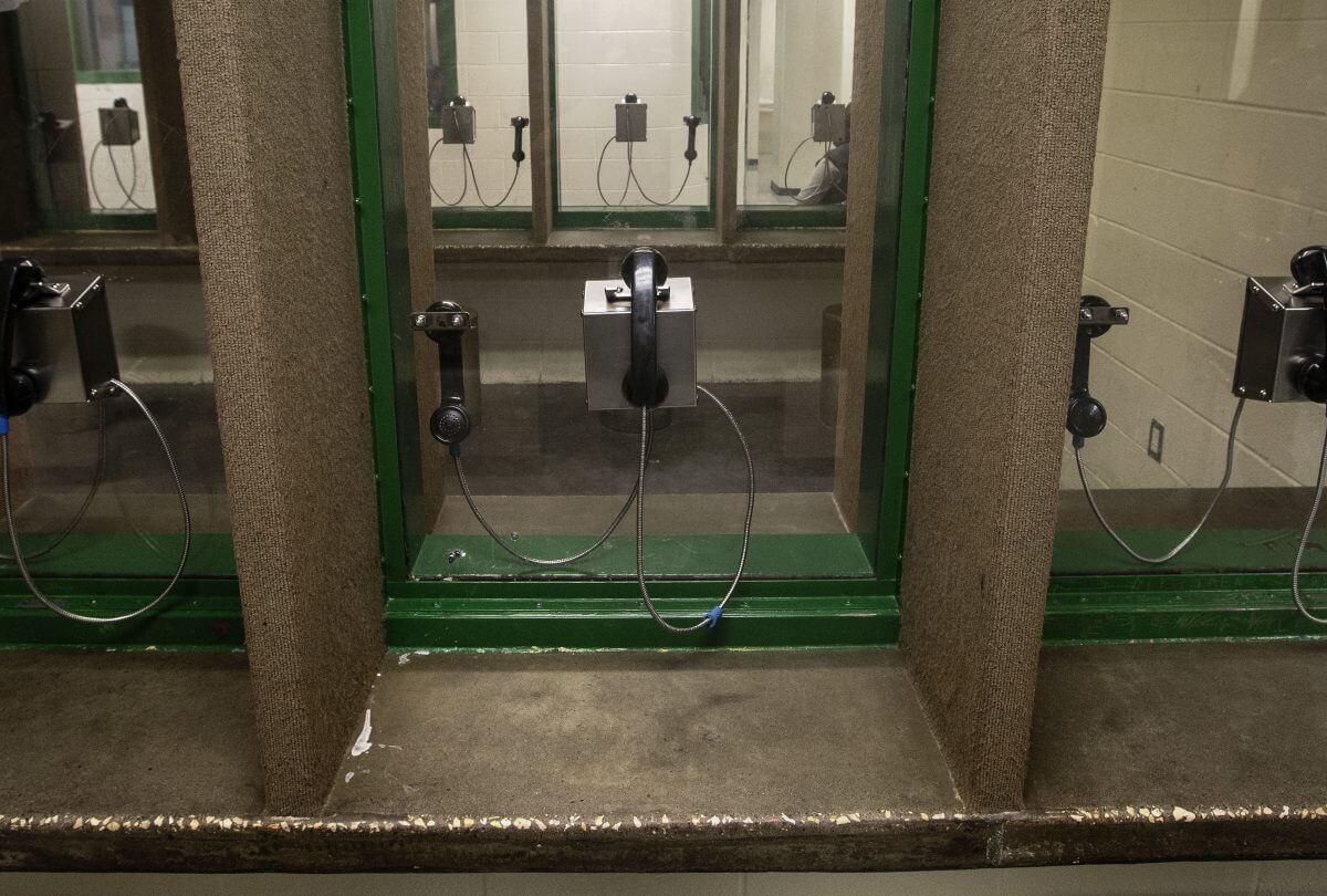 Virtually all visitation at the Harris County jail is