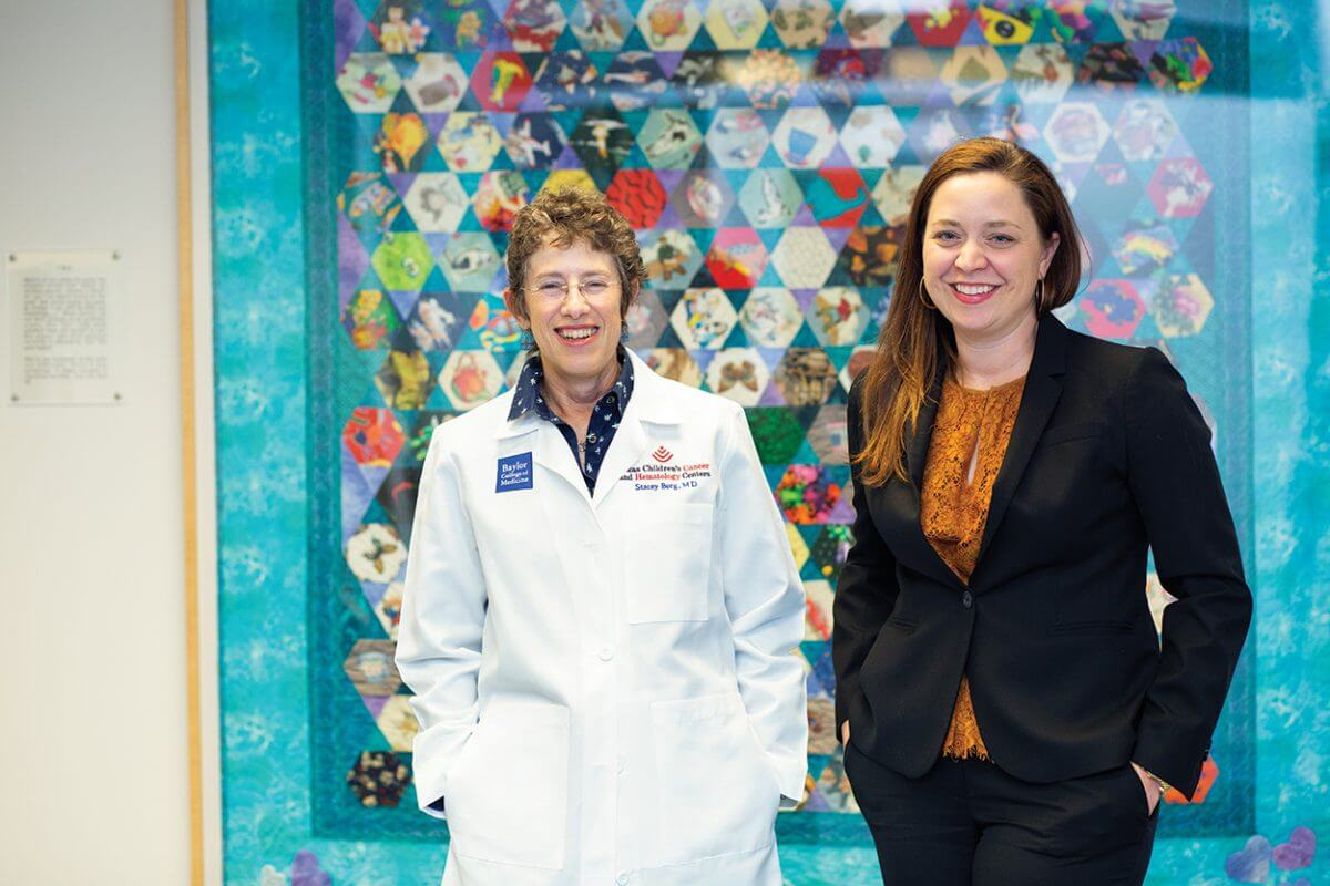 Stacey Berg, M.D., and Brooke Bernhardt, Pharm.D., want to model an essential medicines list for pediatric oncology after the World Health Organization's own Essential Medicines Lists.