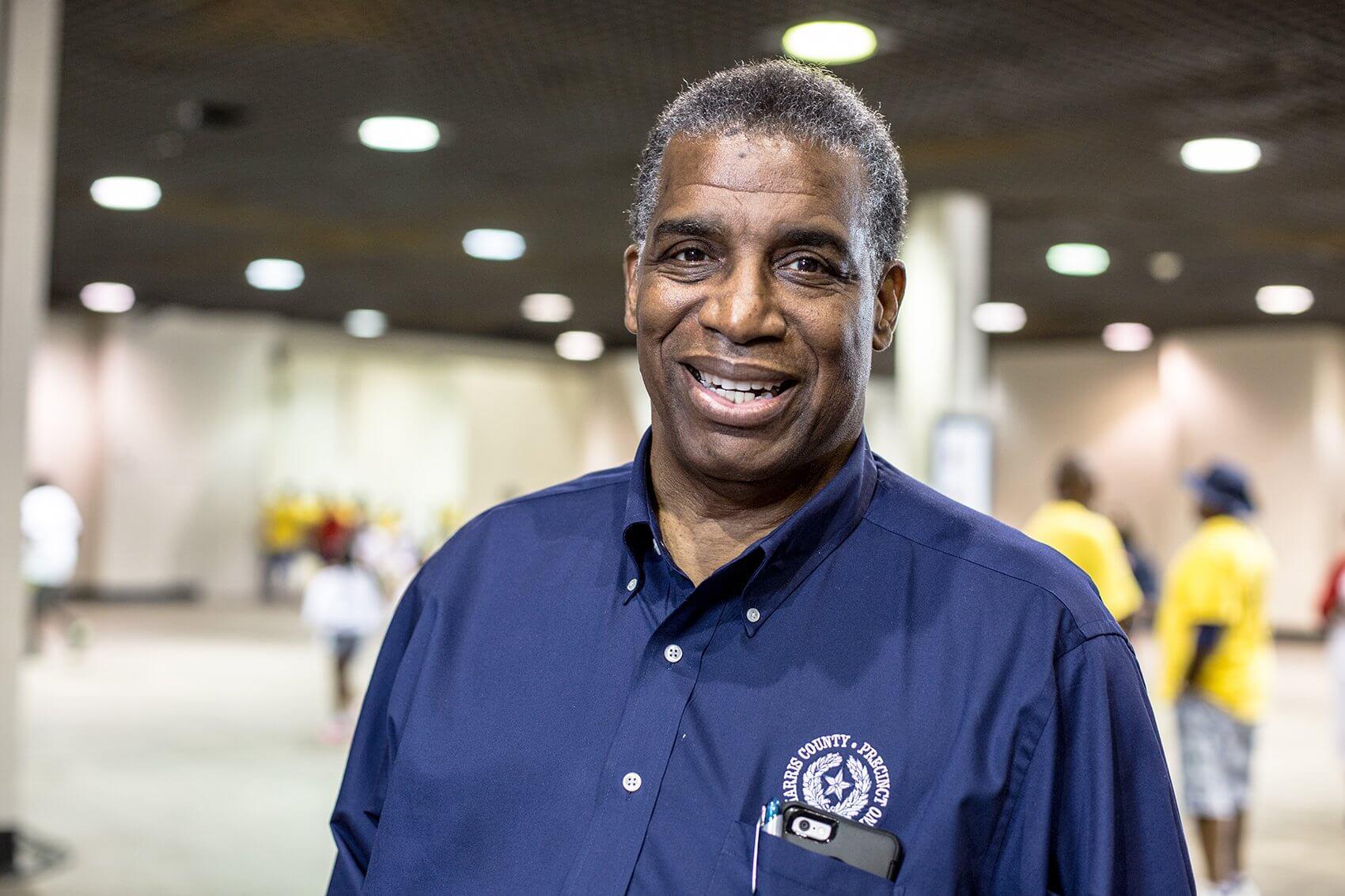Harris County Precinct One Commissioner El Franco Lee, Street Olympics founder.
