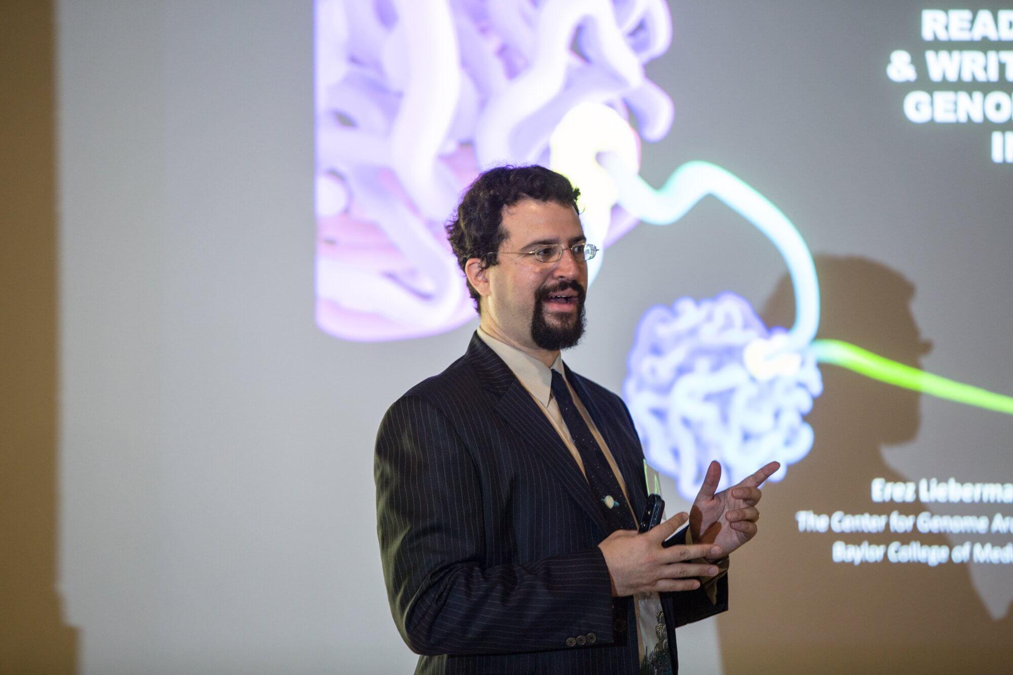 Erez Lieberman Aiden, Ph.D., assistant professor of molecular and human genetics at Baylor College of Medicine.