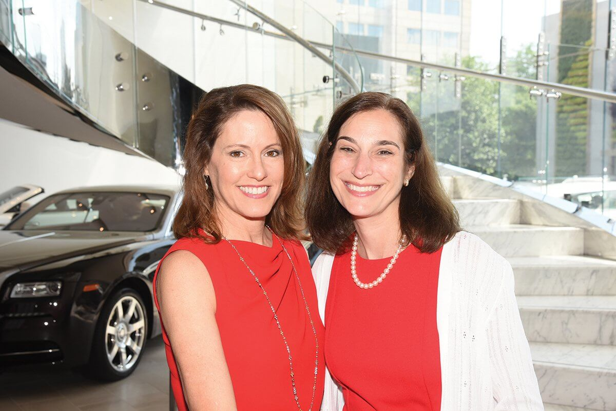"Campaign Houston Go Red For Women co-chairs Rachel Clingman, American Heart Association board member, and Roberta Schwartz, executive vice president of Houston Methodist Hospital, led the ""Let's Unite"" effort that raised $1.8 million (Credit: Alexander's Fine Portrait Design)."