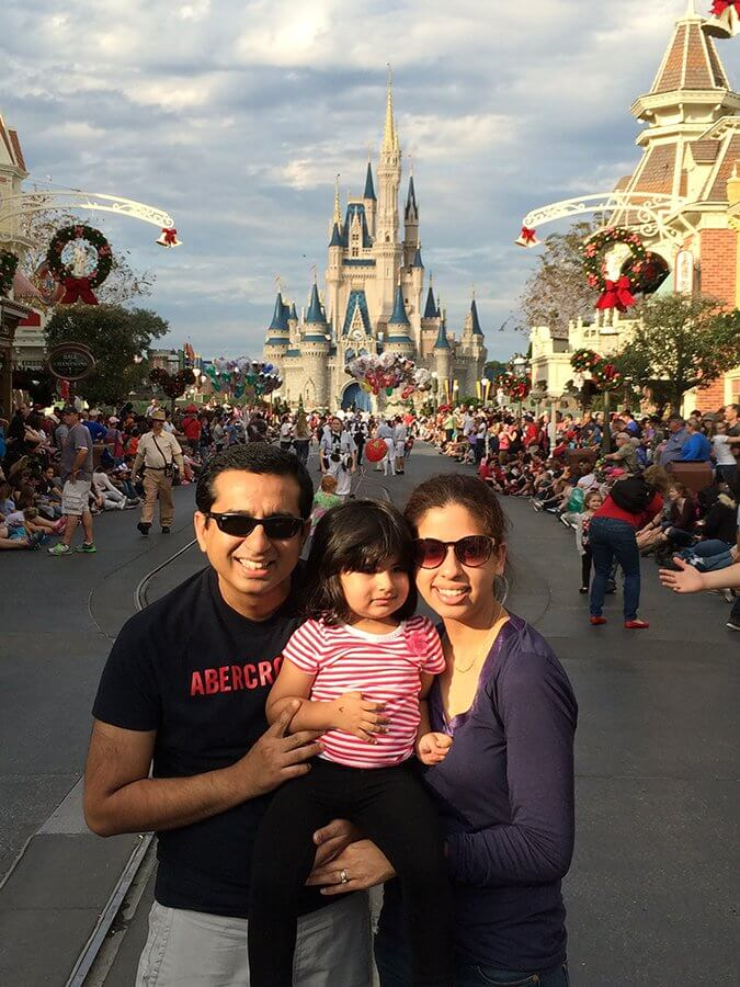 Sayed and his family on a celebratory trip to Disney World less than six months after his chemotherapy and surgery were complete.