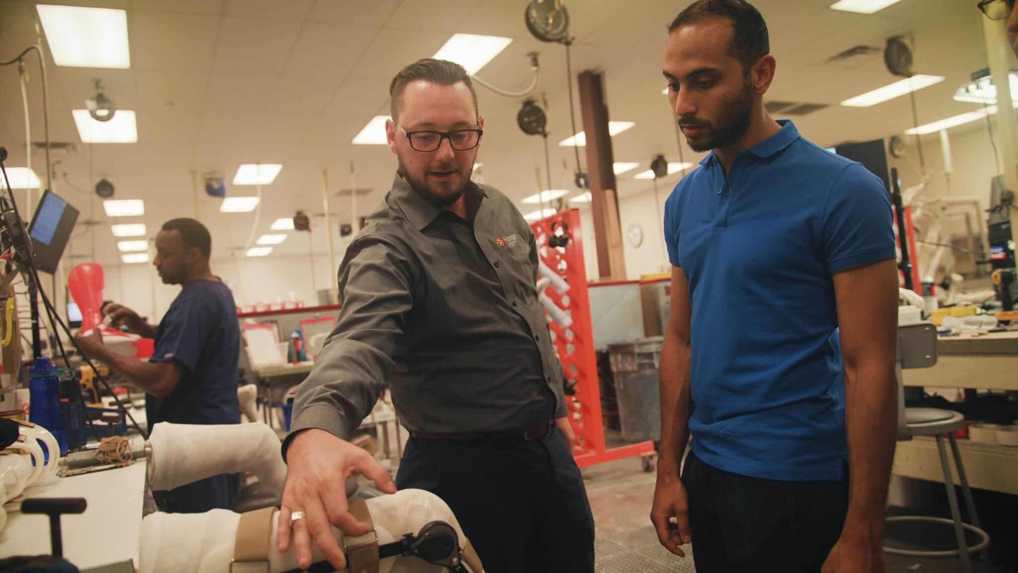 AT&T Foundry, Hanger, prosthetic