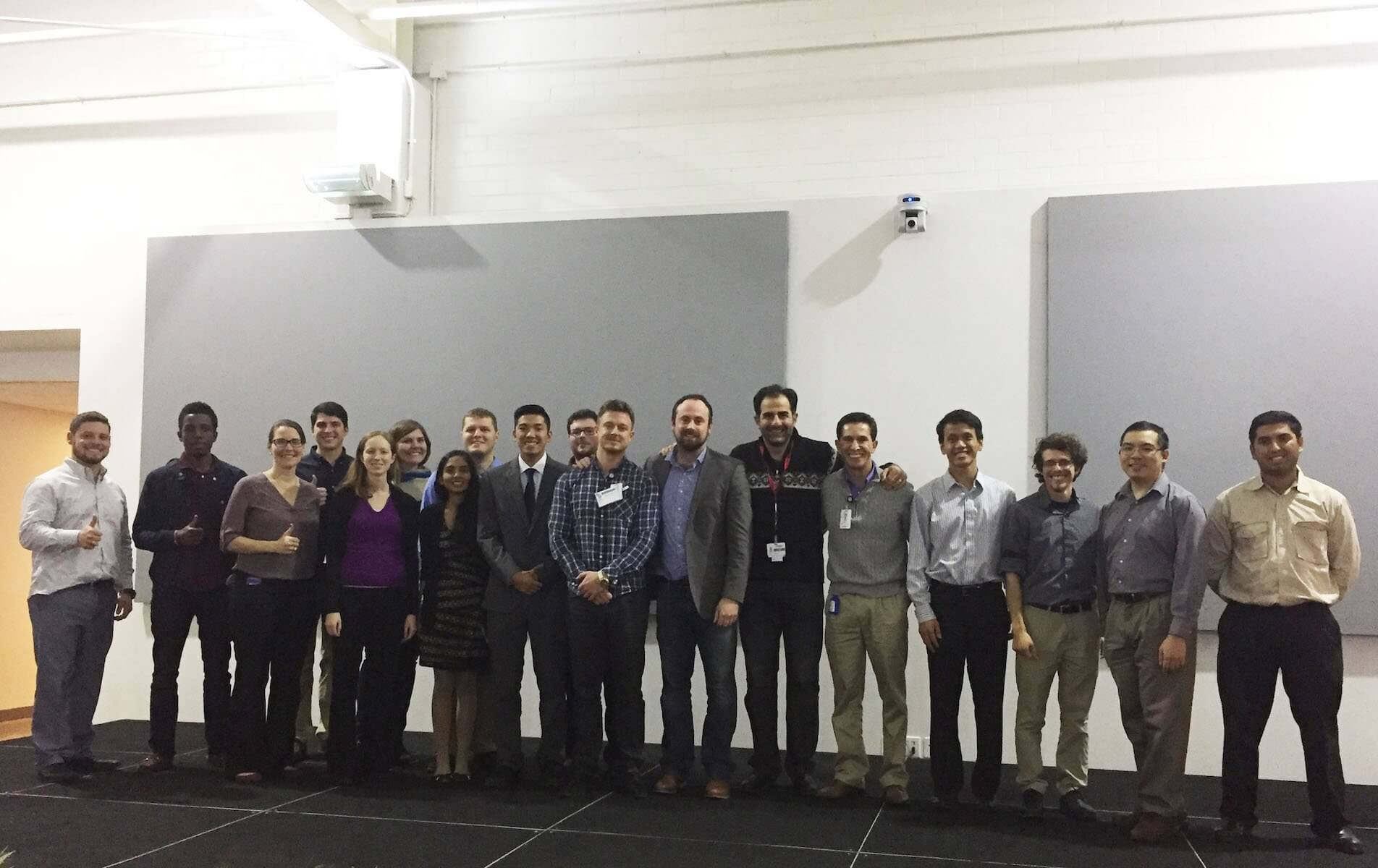 A group of about 20 people, including those from Baylor College of Medicine, Texas A&M University and the corporate world, gathered Dec. 9 to 11 to design a simulation workstation where surgeons and residents could practice the complex aortic repair surgery based on a CT patient scan.
