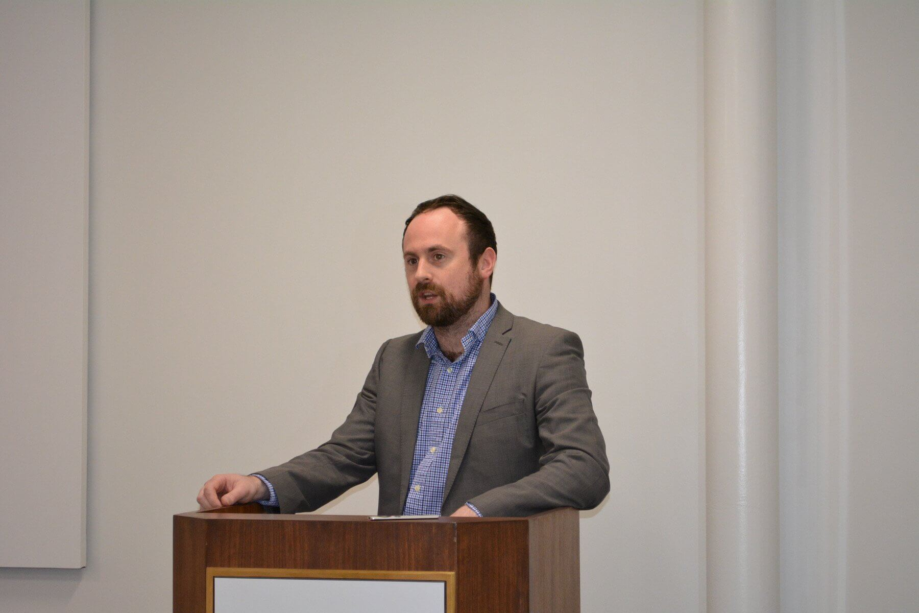 Stuart Corr, Ph.D., director of technology development at Baylor College of Medicine, led the hackathon.