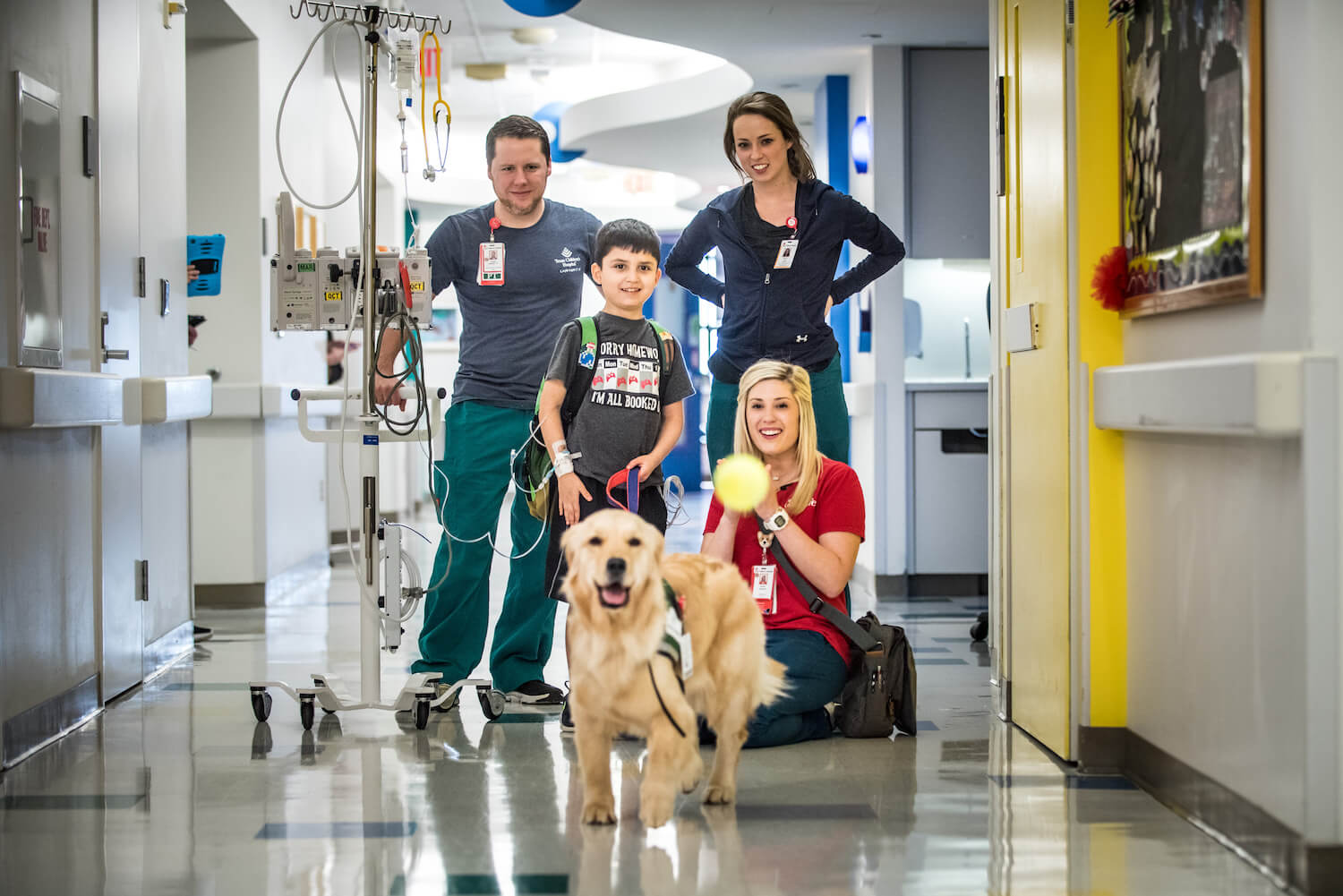As she will do in Legacy Tower, Bailey spent time with a heart patient during her first week of work. Photo: Allen S. Kramer/Texas Children's Hospital