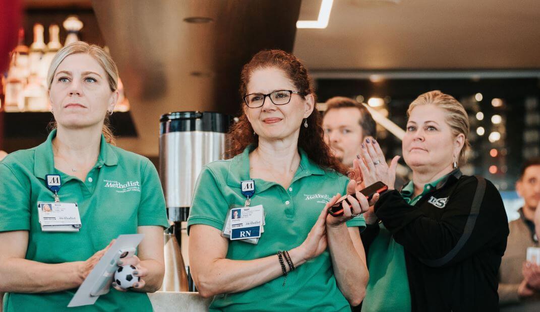 Nurses from Houston Methodist Hospital at LifeGift's Celebration of Life on April 9, 2019. Photo courtesy of LifeGift.