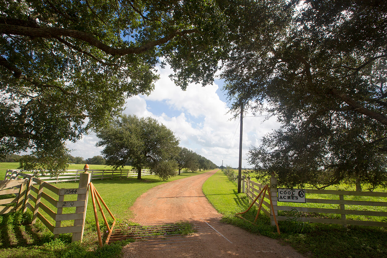 Cool Acres is a storybook Texas countryside retreat developed by famed Houston heart surgeon Dr. Denton Cooley.