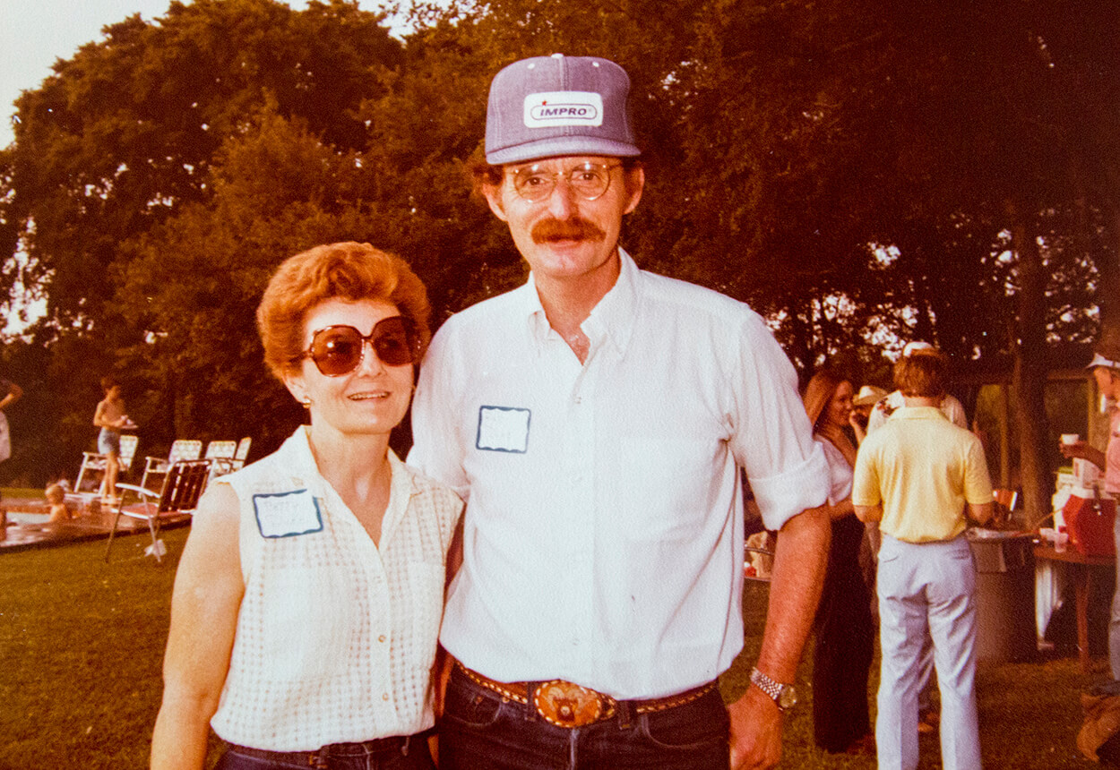 Dr. Red Duke and his wife at the annual picnic.