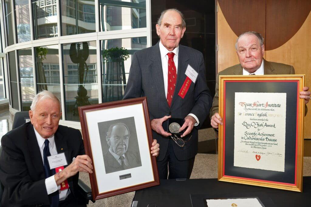 British Cardiac Pioneer Sir Terence English Receives Texas Heart