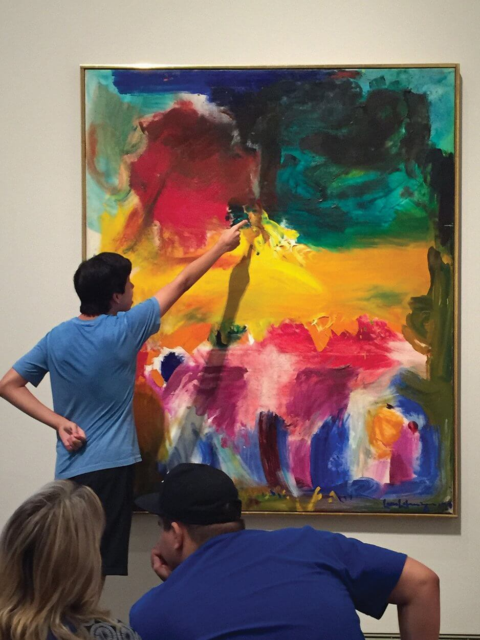 Young adults on the autism spectrum interact with art at the Museum of Fine Arts, Houston in a controlled environment.