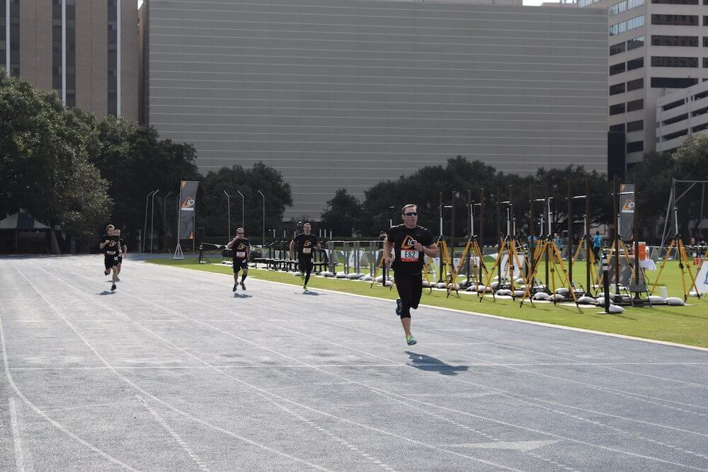 Amateur athletes competed in the D10 Decathlon on Saturday, Nov. 5, at Rice University. The event raised money for pediatric cancer research at The University of Texas MD Anderson Cancer Center. This is the first year Houston hosted the event.