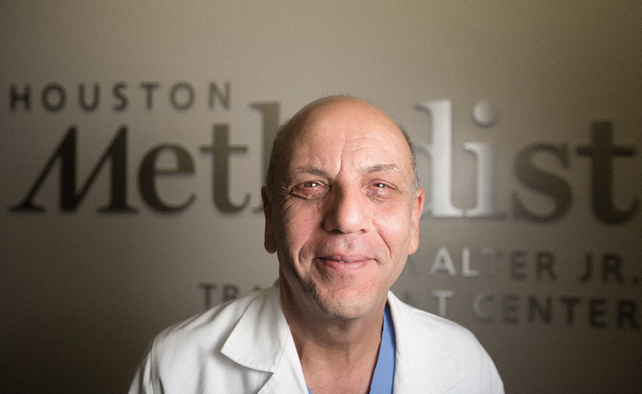 Ahmed Osama Gaber, M.D., is director of Houston Methodist J.C. Walter Jr. Transplant Center.