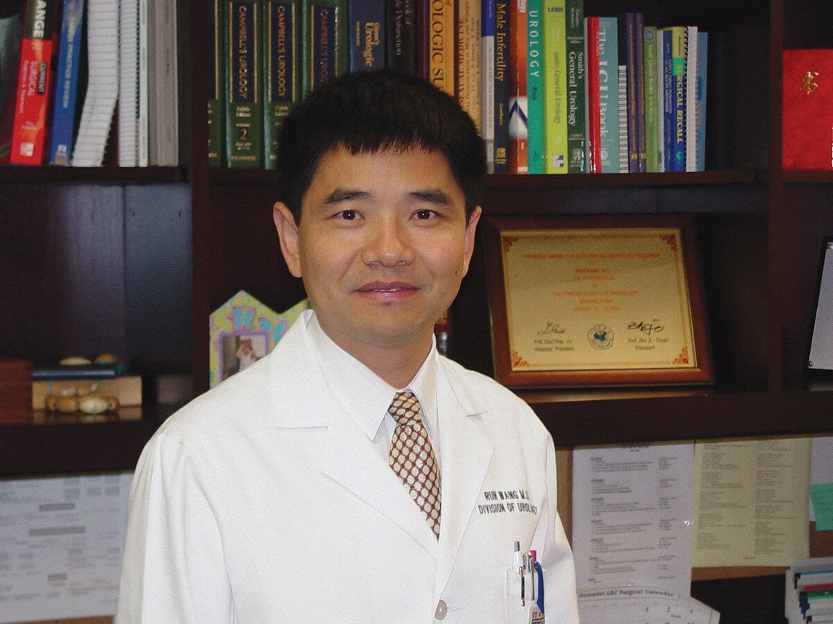 Run Wang, M.D., is a reconstructive surgery specialist, is the Cecil M. Crigler, M.D. Chair in Urology at The University of Texas Health Science Center at Houston. He is also a professor of urology at MD Anderson Cancer Center and practices at Memorial Hermann- Texas Medical Center. (Courtesy of McGovern Medical School at UTHealth)