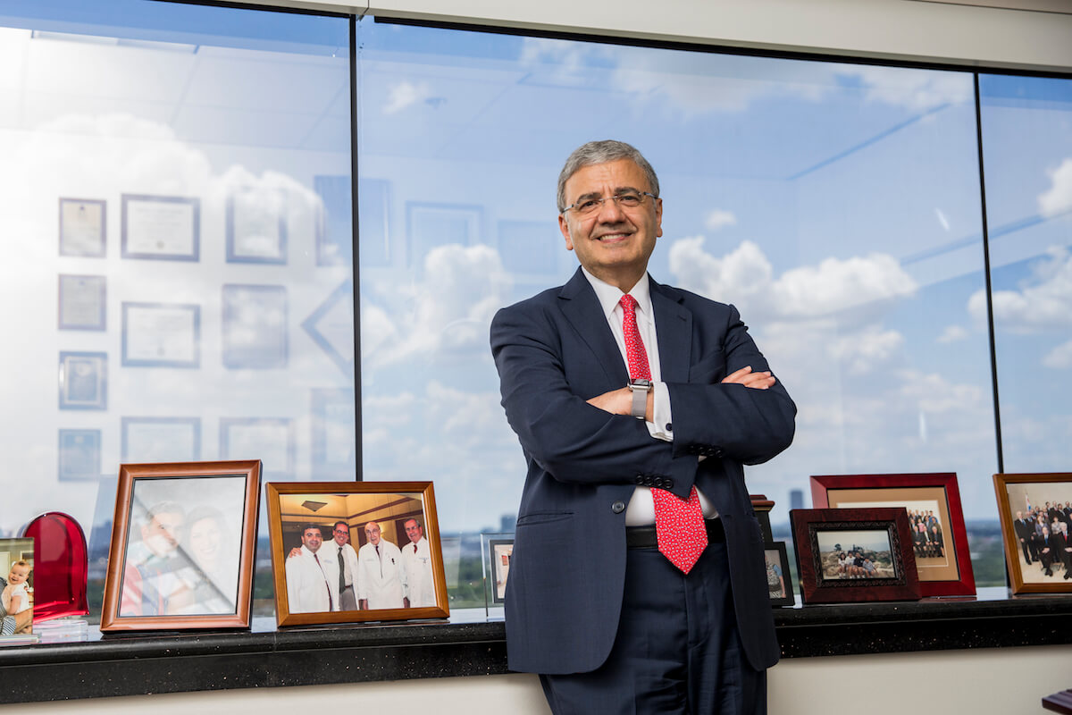 Zoghbi in his office at Houston Methodist's Smith Tower.