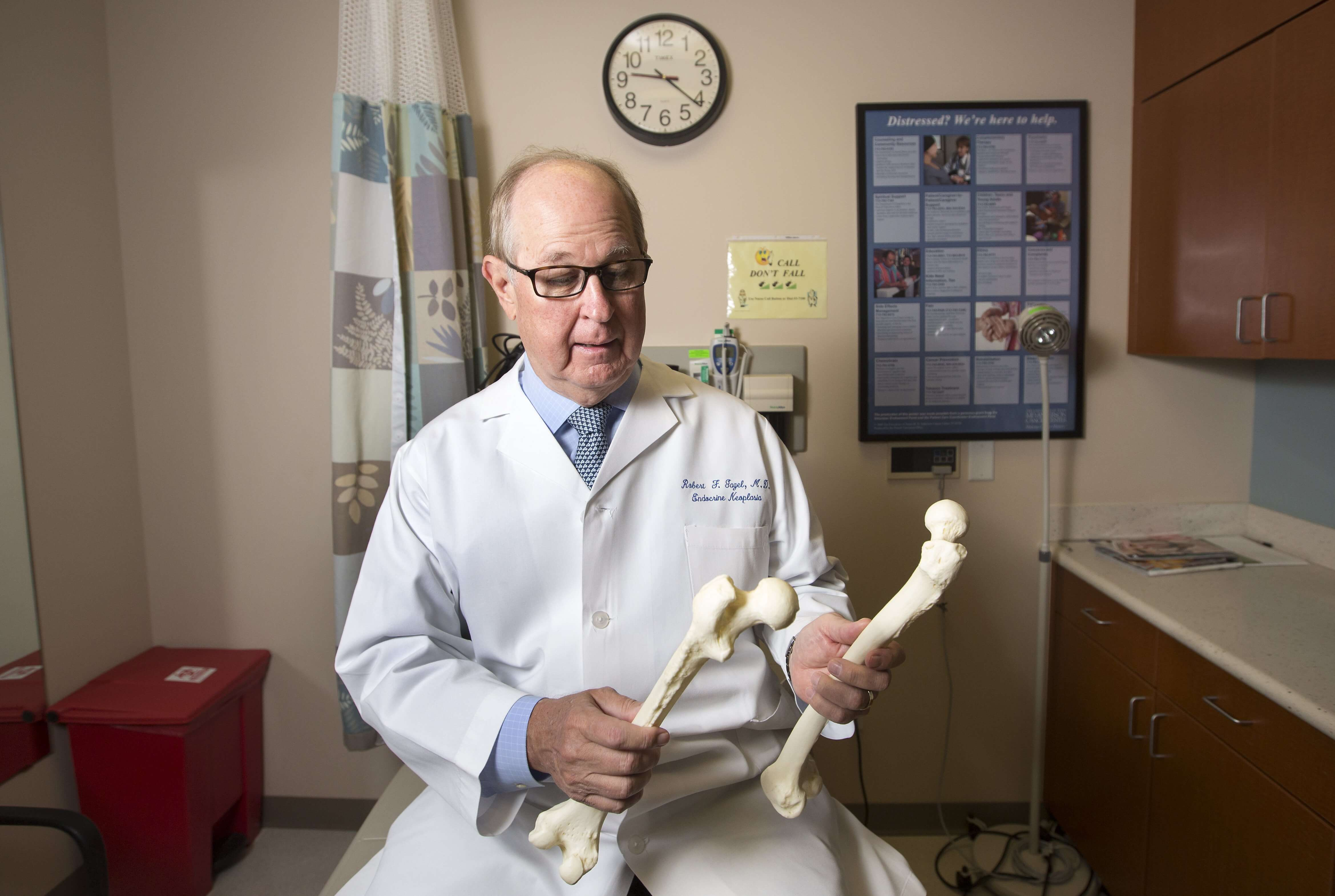 Robert Gagel, M.D., head of internal medicine at The University of Texas MD Anderson Cancer Center and co-director of the Rolannette and Berdon Lawrence Bone Disease Program of Texas.