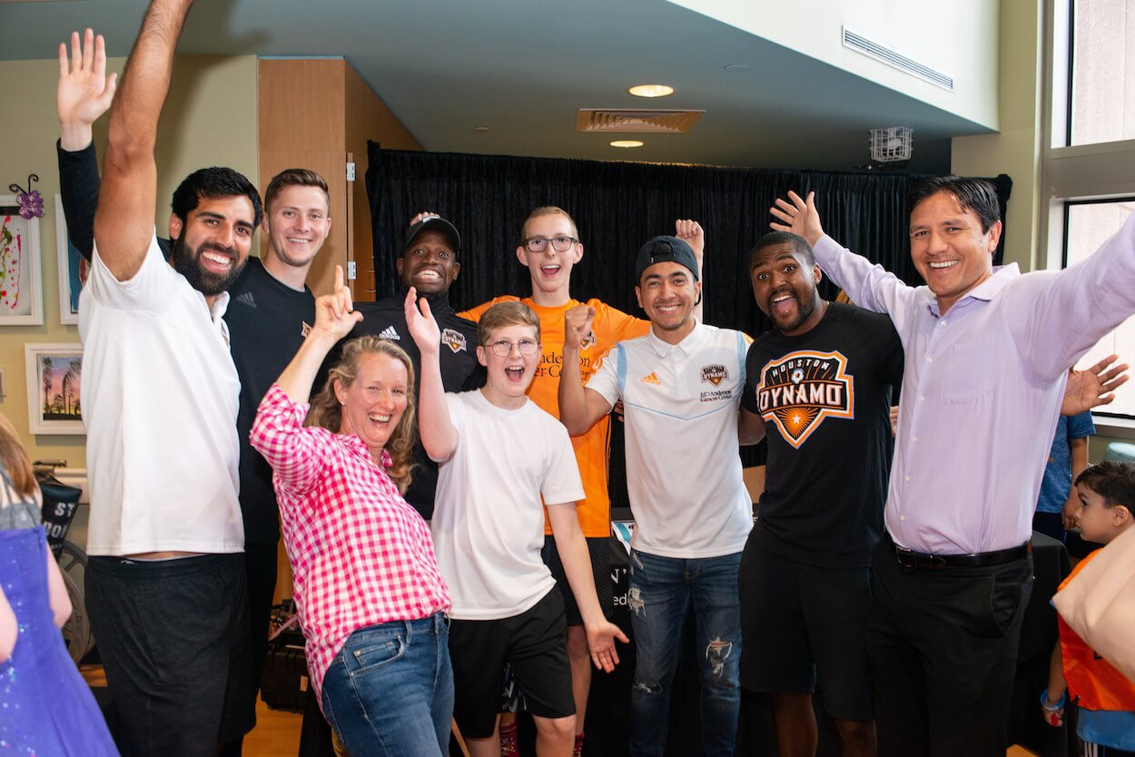Current and former Dynamo players offered their best style tips. (Photo courtesy of MD Anderson)