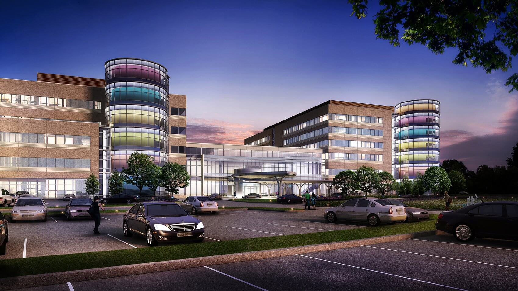 Illustration of Texas Children's Hospital The Woodlands, to open in 2017. (Credit: Texas Children's Hospital)