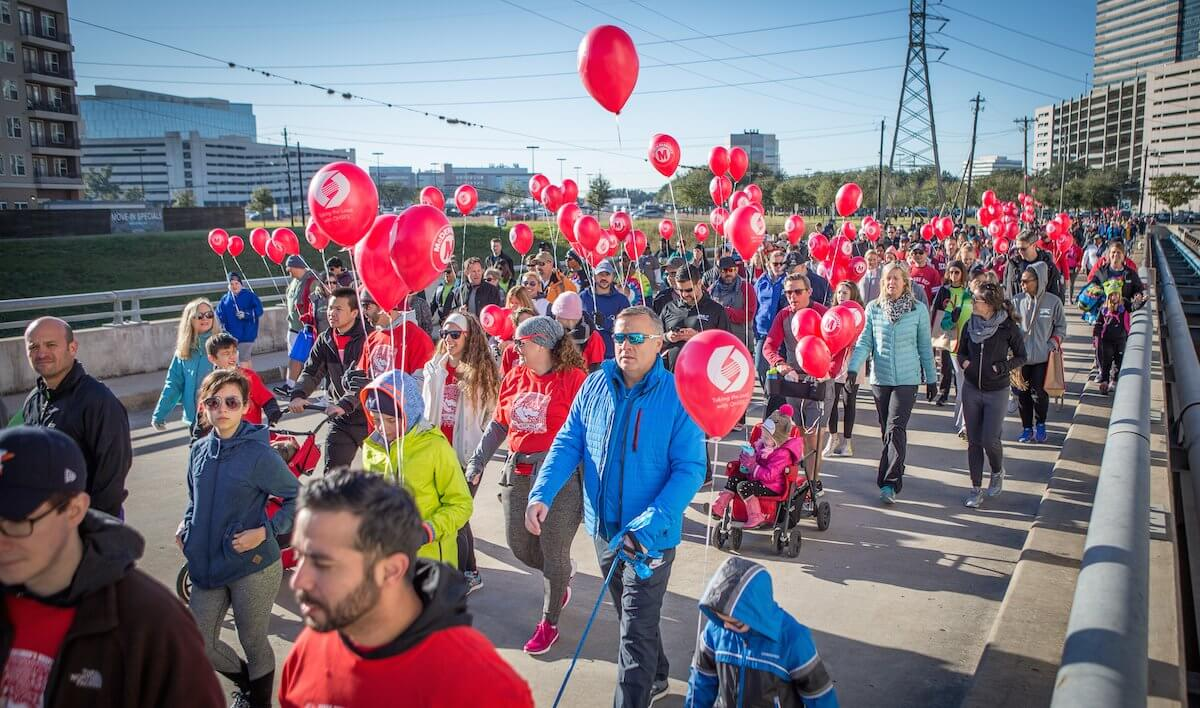 Thousands of people from the Houston area participated in the 2017 Houston Heart Walk, which raises money for the American Heart Association.
