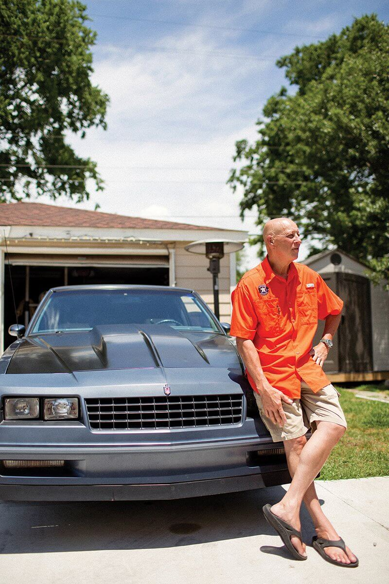 Robert Fisher Jr. reflects on his recent rebuilding efforts in the back yard of his southwest Houston home beside his 1983 Chevrolet Monte Carlo. In the last two years, the 56-year-old has survived bladder cancer and regained intimacy with his wife through a penile prosthesis. He also renovated his house that was flooded in Hurricane Harvey and began restoring his 35-year-old muscle car.
