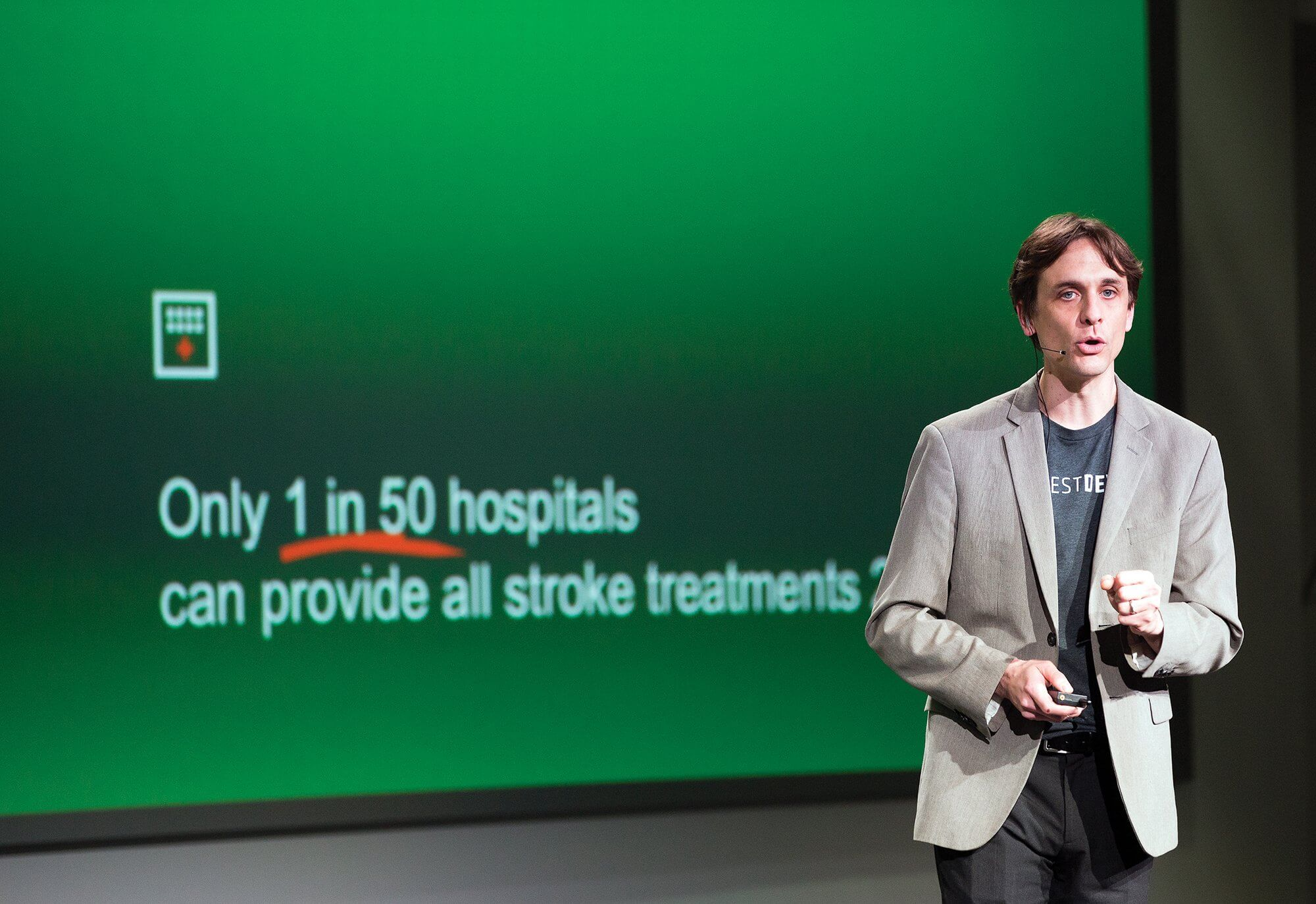 Matt Kesinger, CEO of Forest Devices, explains his stroke detection device, AlphaStroke.