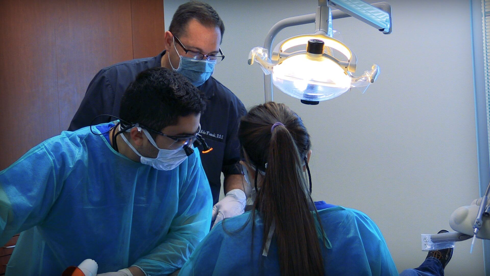 Students from the UTHealth School of Dentistry provide dental care for patients at the clinic.