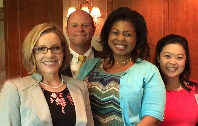 Houston Hospice Community Outreach Staff, Left to Right: Karla Goolsby, David Waller, Monica James, Daisy Wong