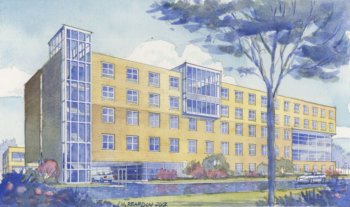 Architectural rendering of Hope Lodge Houston.