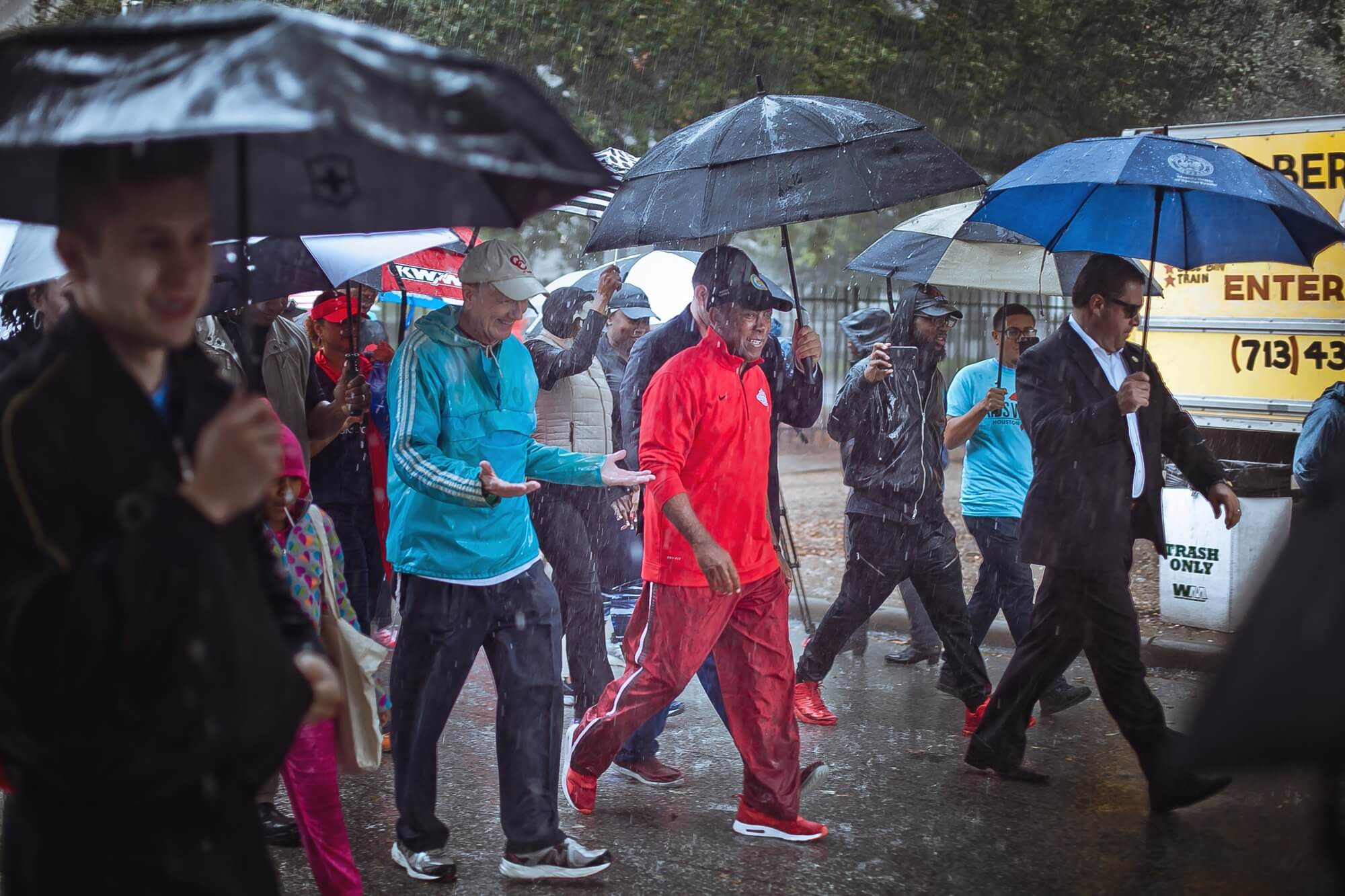 Walkers make their way through the annual 5k. (Photo credit: Morris Malakoff)