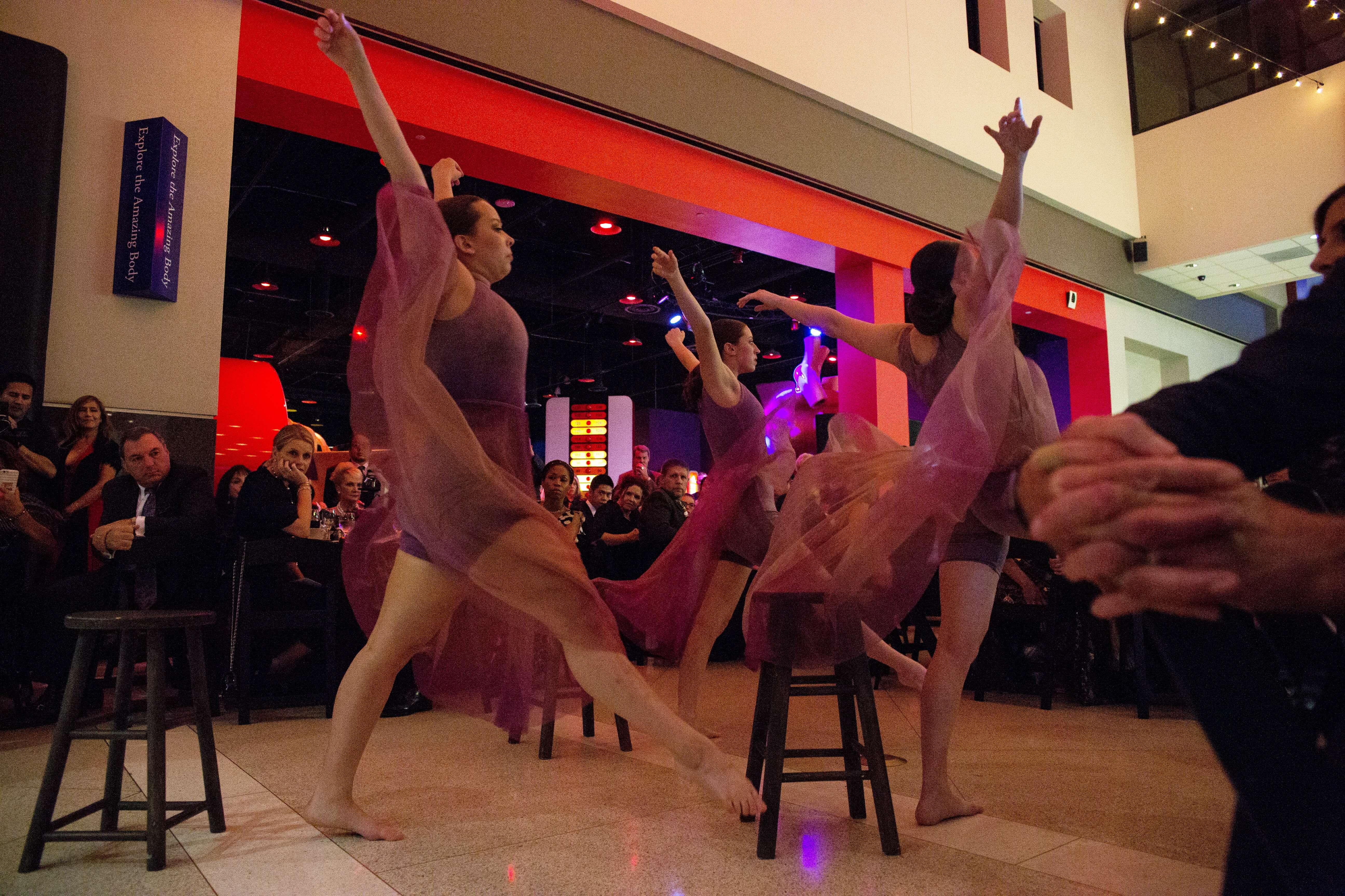 Interpretive dancers from Lamar University performed for gala guests.