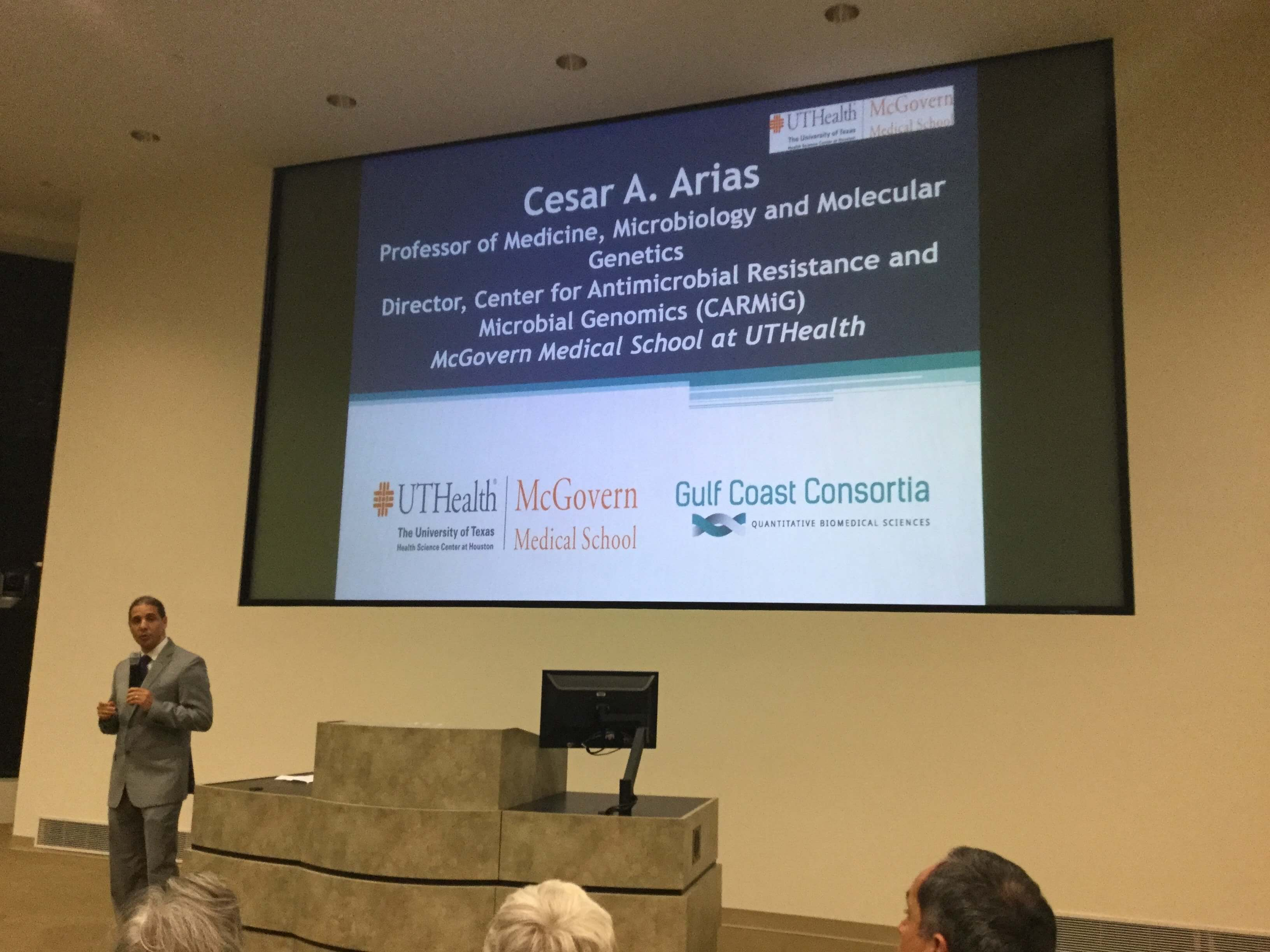Cesar Arias, M.D., Ph.D., director of CARMiG and professor of medicine, microbiology and molecular genetics at McGovern Medical School at UT Health