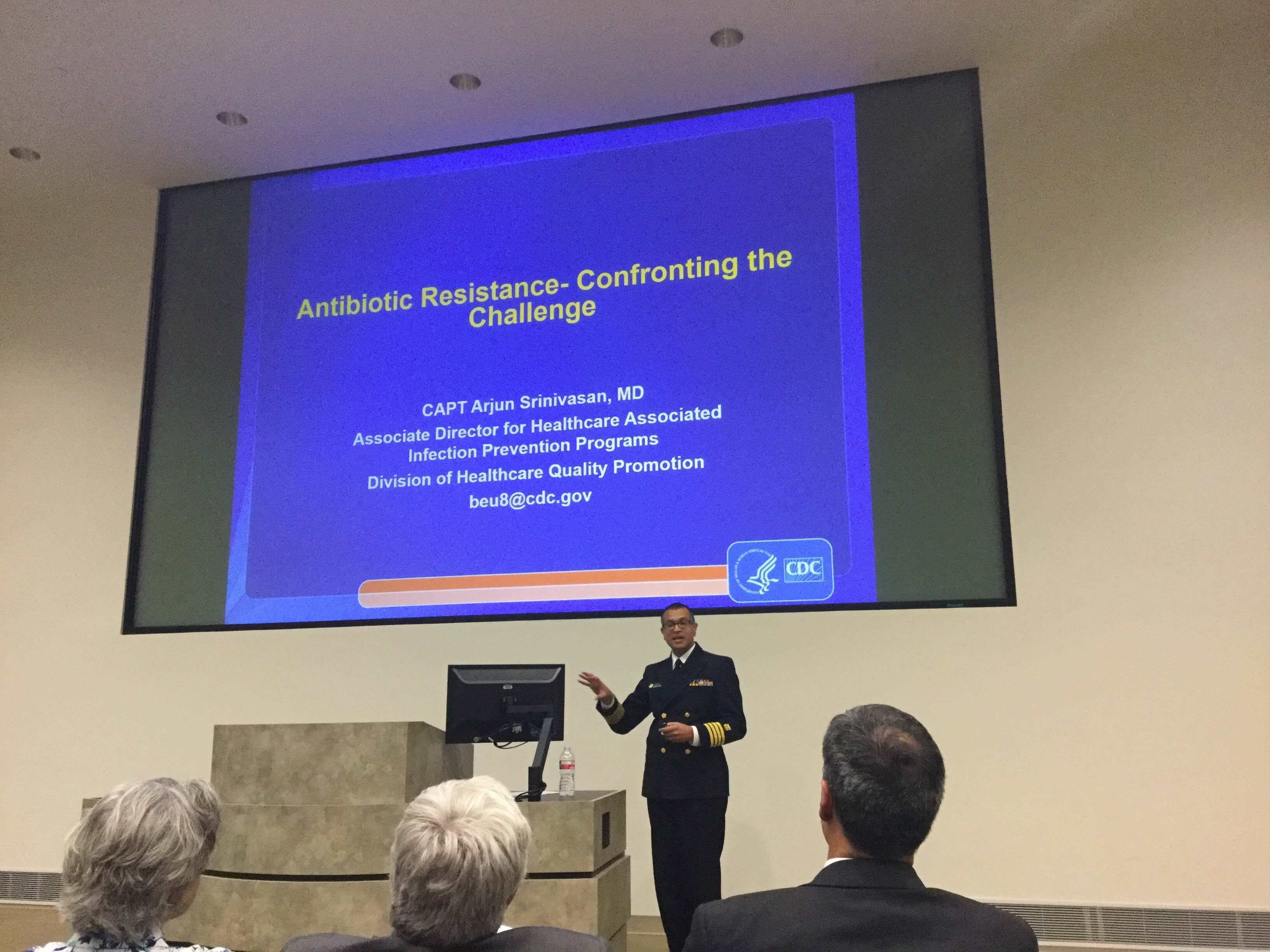 Arjun Srinivasan, M.D., associate director for Healthcare Associated Infection Prevention Programs at the Centers for Disease Control and Prevention