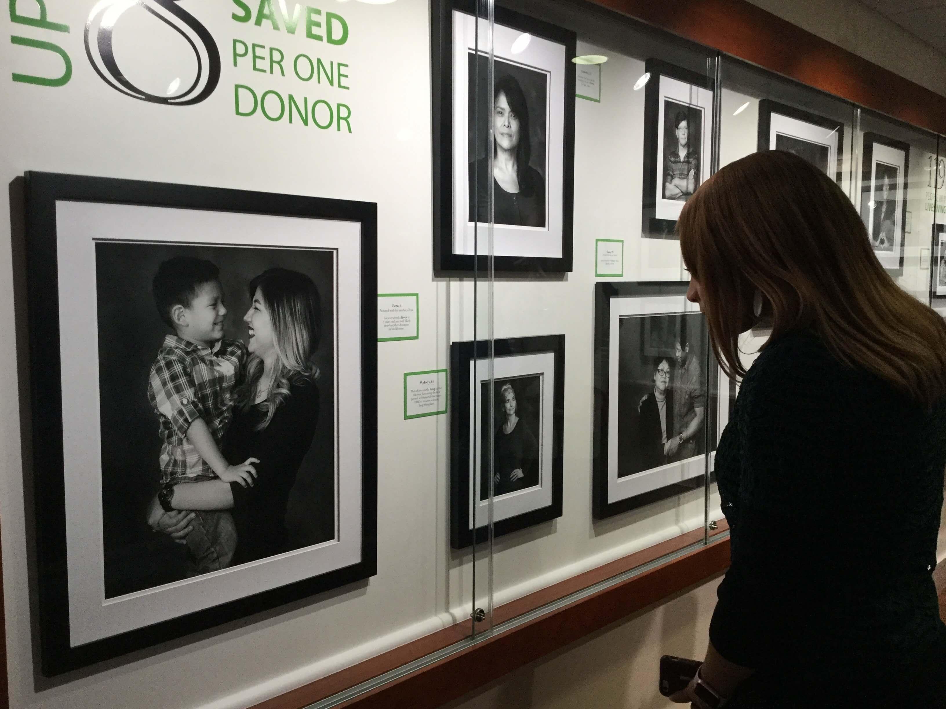 Kellye Moran looks through The Ultimate Gift gallery.