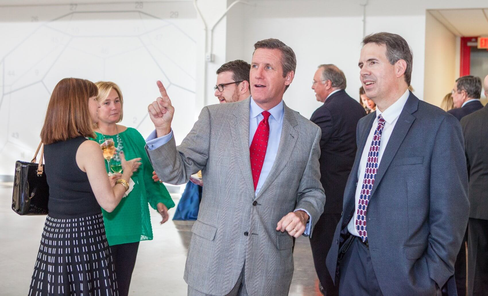 William F. McKeon, chief operating officer of Texas Medical Center, shows off the new space. (Credit: Nick de la Torre)
