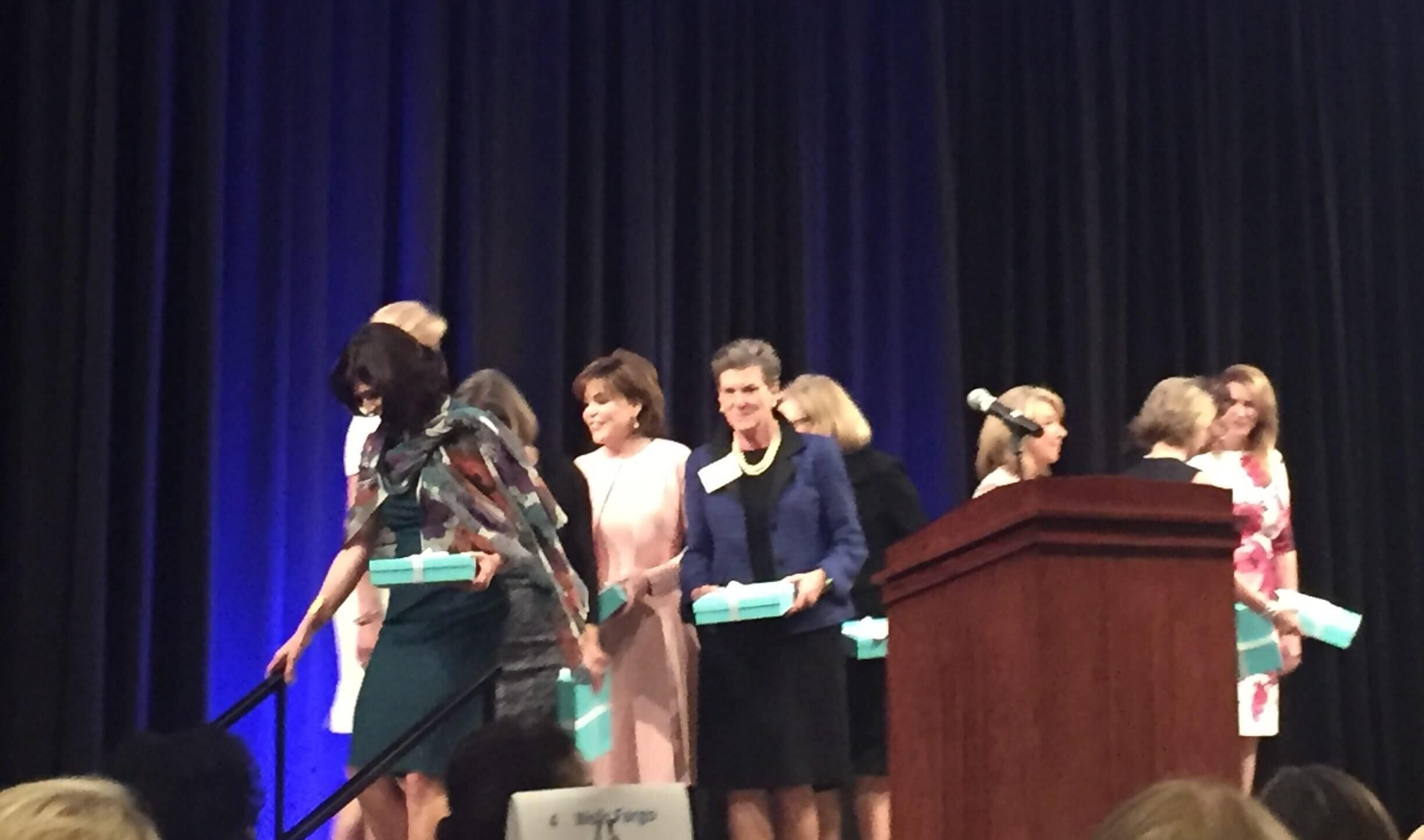 2017 honorees were congratulated by Christine Powell, executive director of the Women's Resource of Greater Houston, and Jessica Neikirk, president of the Board of Trustees for the Women's Resource.