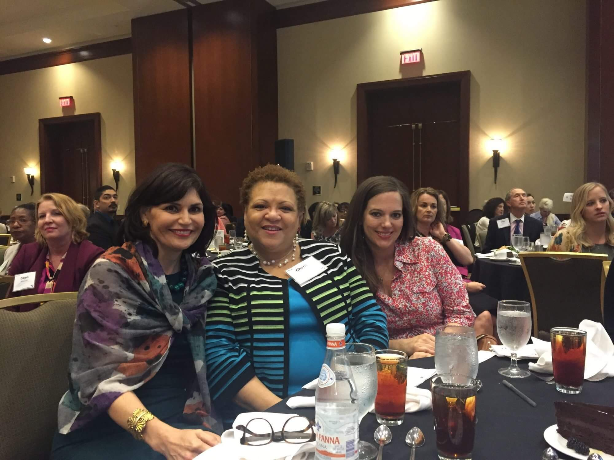Denise Castillo-Rhodes, Chief Financial Officer of the Texas Medical Center, Cherise Story, Senior Internal Auditor at the Texas Medical Center, and Christen David, Vice President of Communications at the Texas Medical Center.