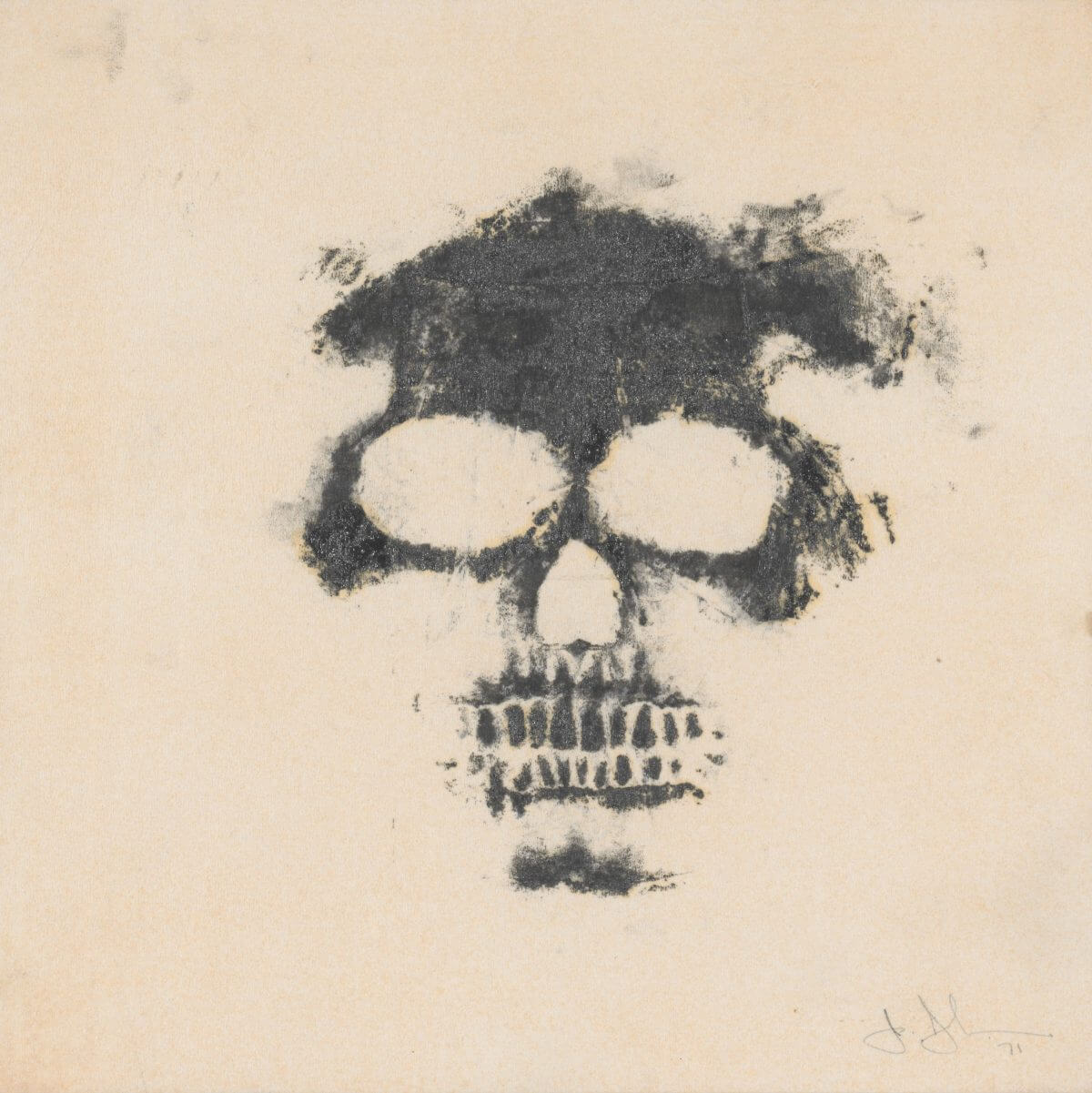 Skull, 1971.  Image courtesy of the Menil Drawing Institute.