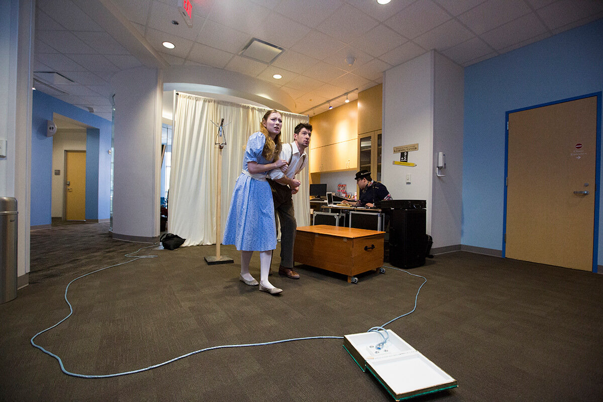 Kathleen Brown and Mark McManus bring Narnia to life for patients at TCH.