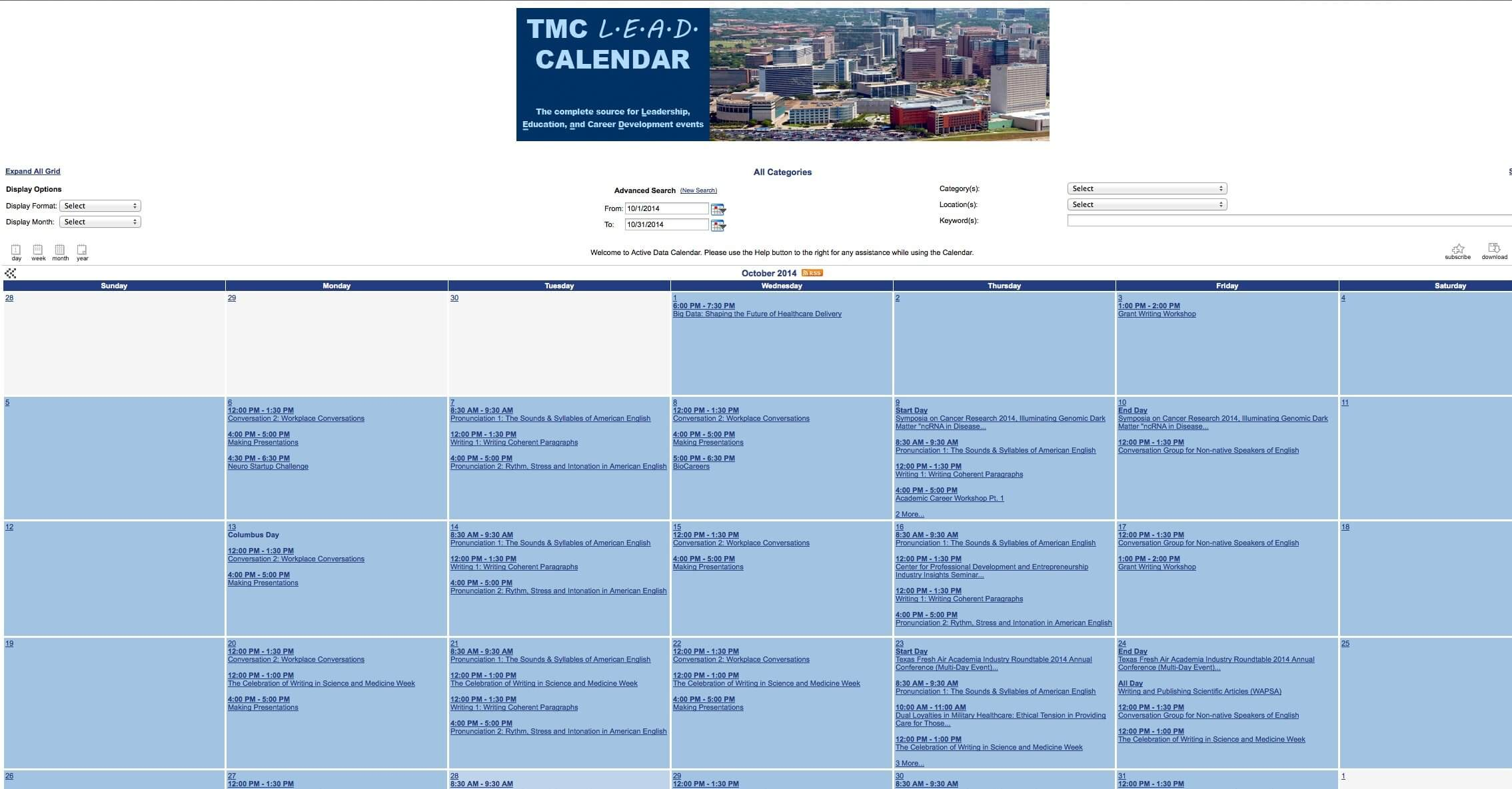 Lead calendar