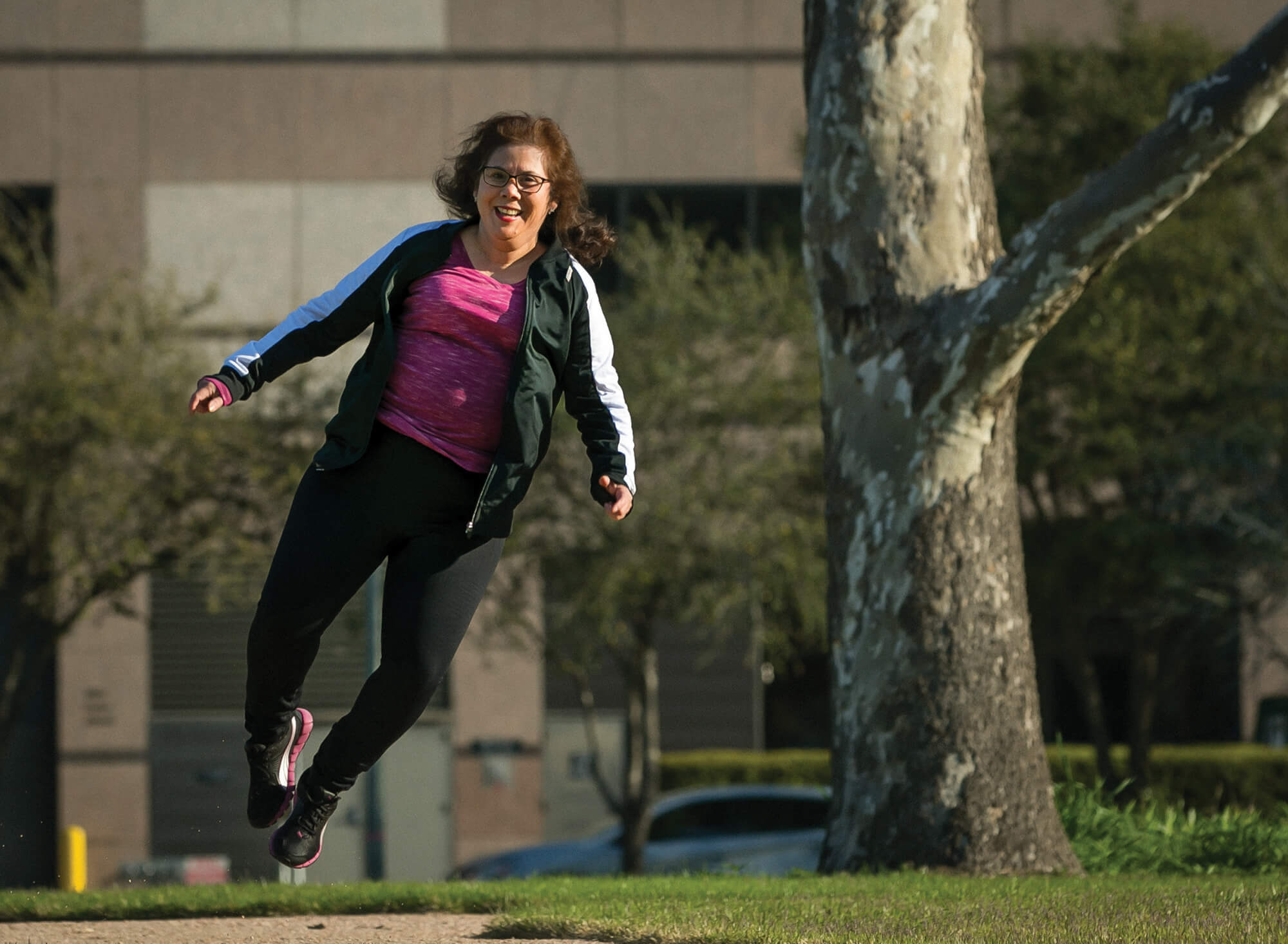 Incorporating physical activity into her routine has completely changed Peña's life.